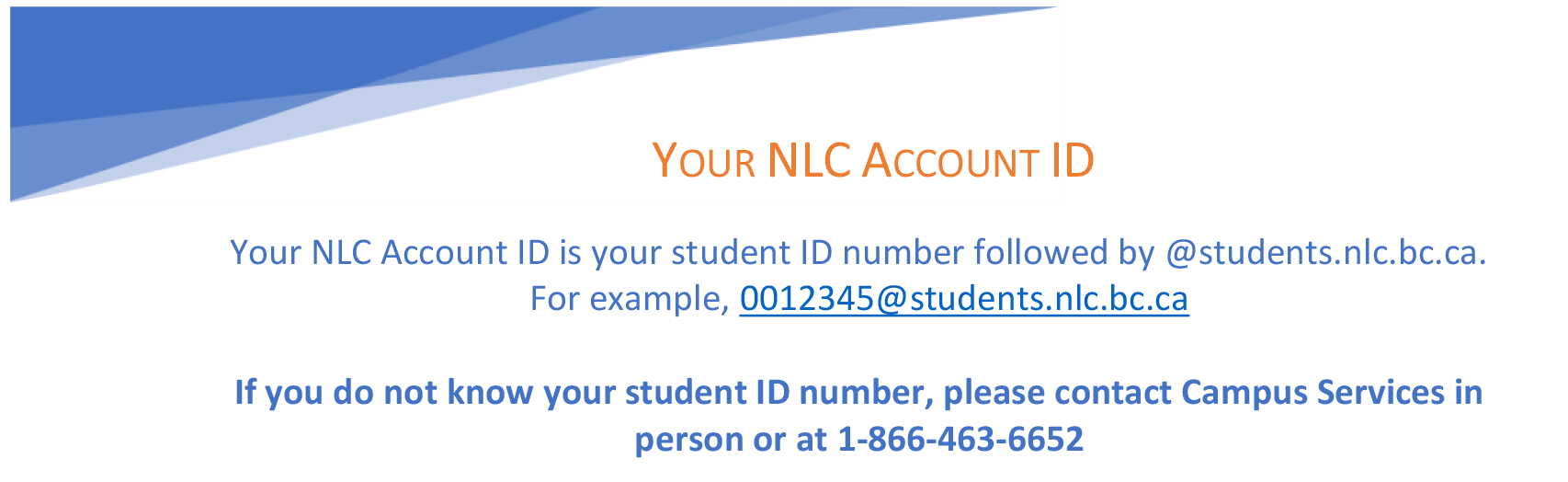 NLC Acount ID description